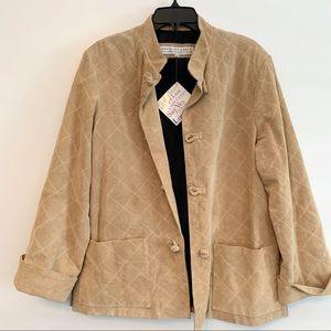 Gretchen Scott Tan Washable Suede Short Coat Med